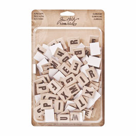 Tim Holtz Idea-ology Alpha Chips - Elementary