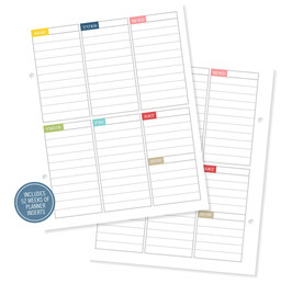 Simple Stories Life Documented Weekly Planner Inserts