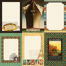 Echo Park /Graphic 45 Transatlantique : Suitcase