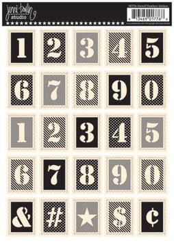 Jenni Bowlin Postage Stamp Stickers - Stencil Numbers