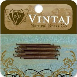 "Vintaj Natural Brass 1"" Headpins"