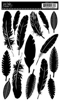 Jenni Bowlin Rub-Ons: Feathers