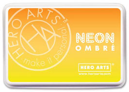 Hero Arts Ombre Ink Pad: Neon Yellow to Orange