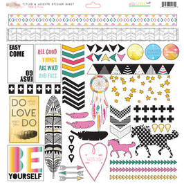 Glitz Design Wild & Free Titles & Accents