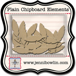 Jenni Bowlin Plain Chipboard Elements - Cut Feather