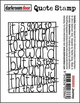 Darkroom Door Quote Stamp: Journey