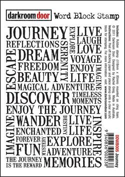 Darkroom Door Word Block Stamp: Journey