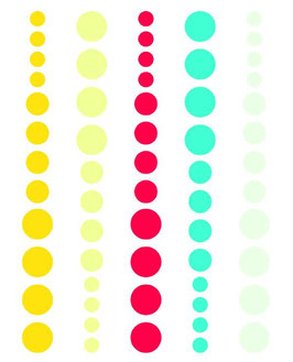 Simple Stories DIY Enamel Dots: Teal, Red, Yellow