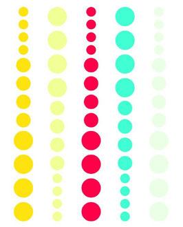 Simple Stories DIY Enamel Dots: Teal, Red, Yellow