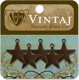 Vintaj Natural Brass Altered Blanks - Tiny Artisan Star
