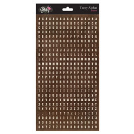 Glitz Design Teeny Alphas - Brown