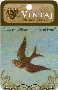 Vintaj Natural Brass Fanciful Bird