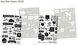 Simple Stories DIY Clear Stickers - Messages
