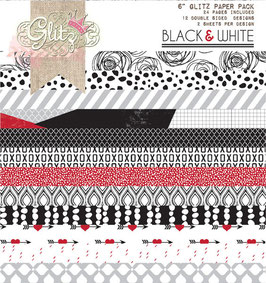 Glitz Design Black & White 6x6 Paper Pad