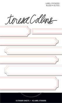Teresa Collins Signature Essentials Matchbook Stickers:  Blush Label