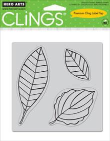Hero Arts Clings - Leaves