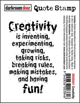 Darkroom Door Quote Stamp: Creativity