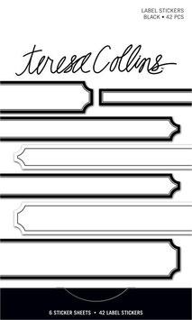 Teresa Collins Signature Essentials Matchbook Stickers:  Black Label