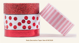 MME Necessities Reds Decorative Tape