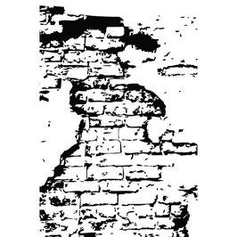 Prima 4x6 Cling Stamp - Loft Wall