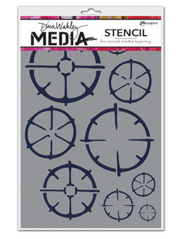 Dina Wakley Media Stencil: Wheels