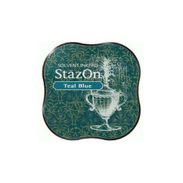 StazOn Midi Ink Pad: Teal Blue