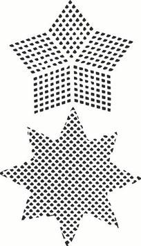 Dina Wakley Media Stencil: Plastic Canvas Stars