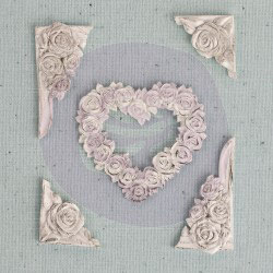 Shabby Chic Treasures Rose Heart Corners