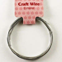 Craft Wire 24 gauge (0.5mm) - Silver
