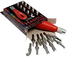 Lino Cutter 10 blades & handle