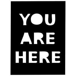 Rhonda Palazzari 4x4 Fragments:TCW2027 You Are Here