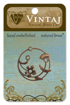 Vintaj Natural Brass Perennial Laurel