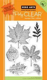 Hero Arts Clear Stamps - Real Leaves