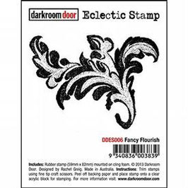 Darkroom Door Eclectic Stamp: Fancy flourish