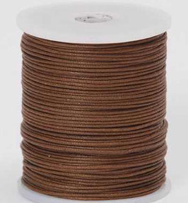 Brown waxed cord