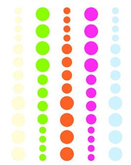 Simple Stories DIY Enamel Dots: Pink, Green & Orange