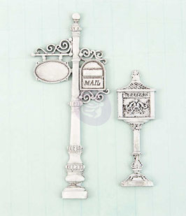 Metal Mail Box Shabby Chic Treasures (892432)