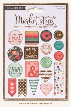 MME Market Street - Ashbury Heights Chipboard Buttons