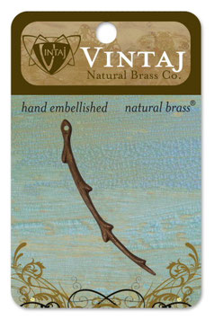 Vintaj Natural Brass Willow Branch