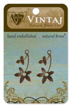 Vintaj Natural Brass Violet Spring (FS013R)
