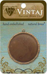 Vintaj Natural Brass 40mm Bamboo Bezel