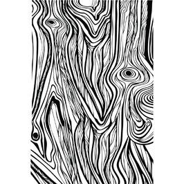 Prima 4x6 Cling Stamp - Fine Wood
