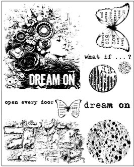 Finnabair Cling Mounted Stamps: Dream On
