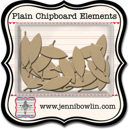 Jenni Bowlin Plain Chipboard Elements - Graphic Feather