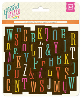 BasicGrey Grand Bazaar Chipboard Alphabet