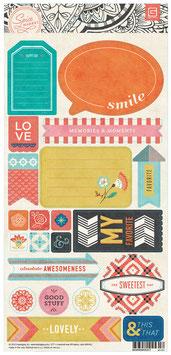BasicGrey Spice Market 6x12 Title Stickers