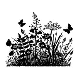 Crafty Individuals CI-367 Wild Flowers & Butterflies Silhouette