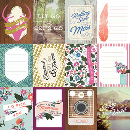 Carta Bella Wildflower : 3x4 Journaling Cards
