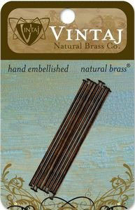 "Vintaj Natural Brass 2"" headpins"