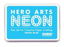 Hero Arts Neon Ink Pad - Neon Blue